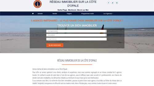 Site du Réseau Immobilier de la Cote d'Opale
